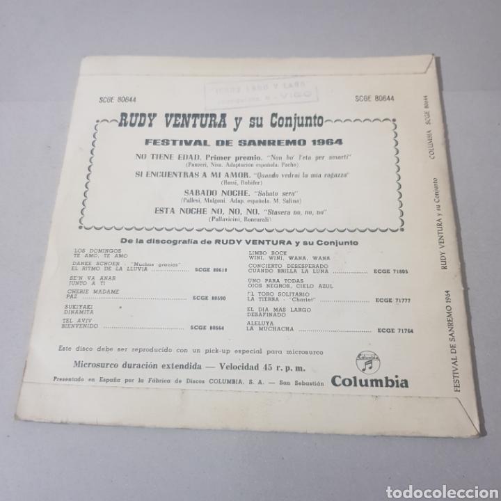 Discos de vinilo: RUDY VENTURA Y SU CONJUNTO- FESTIVAL DE SAN REMO 1964 - Foto 2 - 194355277