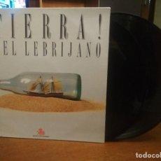 Discos de vinilo: JUAN PEÑA EL LEBRIJANO. ¡TIERRA!. DOBLE LP, SOCIEDAD ESTATAL QUINTO CENTENARIO, 1989. Lote 194355313