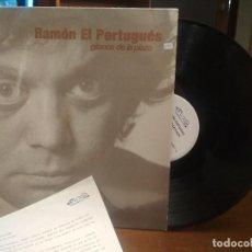 Discos de vinilo: RAMON EL PORTUGUES GITANOS DE LA PLAZA CON HOJA PROMO LP 1991 NUEVOS MEDIOS. Lote 194356003