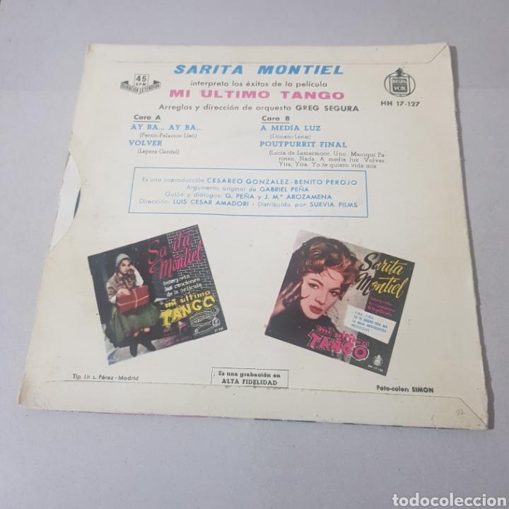 Discos de vinilo: SARITA MONTIEL - CANCIONES DE LA PELICULA MI ULTIMO TANGO - Foto 2 - 194356088