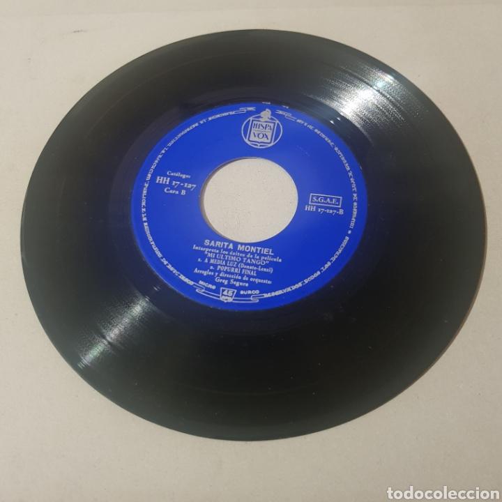 Discos de vinilo: SARITA MONTIEL - CANCIONES DE LA PELICULA MI ULTIMO TANGO - Foto 3 - 194356088