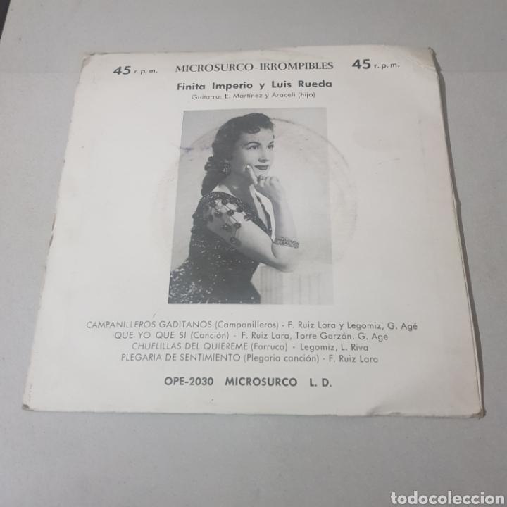 Discos de vinilo: FINITA IMPERIO - CAMPANILLEROS GITANOS - QUE YO QUE SI - CHUFLILLAS DEL QUIEREME - PLEGARIA DE ... - Foto 2 - 194356200