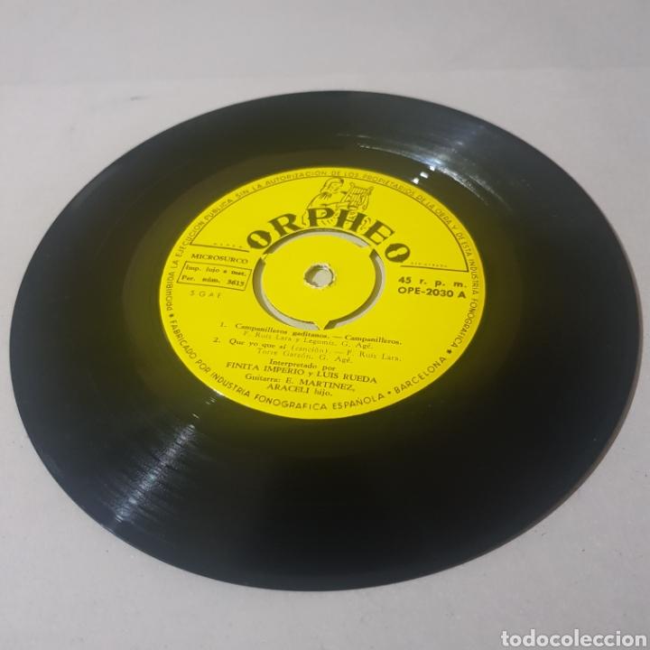 Discos de vinilo: FINITA IMPERIO - CAMPANILLEROS GITANOS - QUE YO QUE SI - CHUFLILLAS DEL QUIEREME - PLEGARIA DE ... - Foto 4 - 194356200