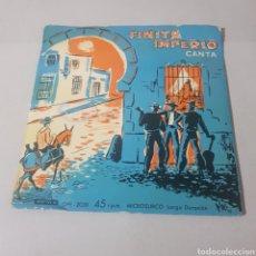 Discos de vinilo: FINITA IMPERIO - CAMPANILLEROS GITANOS - QUE YO QUE SI - CHUFLILLAS DEL QUIEREME - PLEGARIA DE .... Lote 194356200