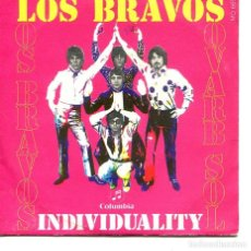 Discos de vinilo: LOS BRAVOS / INDIVIDUALITY / VIVE LA VIDA (SINGLE 1969). Lote 194363791