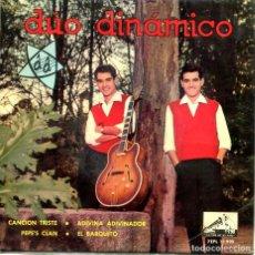 Discos de vinilo: DUO DINAMICO / PEPE'S CLAN + 3 (EP 1963). Lote 194364100