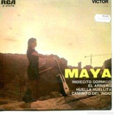 Discos de vinilo: MAYA / INDIECITO DORMIDO + 3 (EP 1968). Lote 194365268