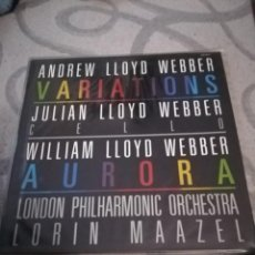 Discos de vinilo: ANDREW LLOYD WEBBER. LONDON PHILARMONIC ORCHESTRA. VARIATIONS.. Lote 194366236