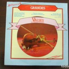 Discos de vinilo: JOHANN STRAUSS -GRANDES VALSES- VERSIÓN ORIGINAL 2 DISCOS. Lote 194366731