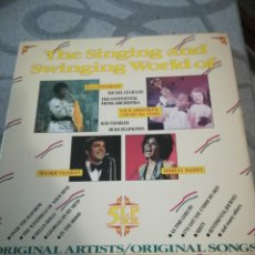 Discos de vinilo: THE SINGING & SWINGING WORLD OF FITGERALD, VAUGHAN,BASSEY, ARMSTRONG. 5 LO BOX (AT). Lote 194366766