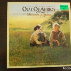 Discos de vinilo: MEMORIAS DE ÁFRICA -BSO-. Lote 194368791