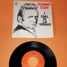 Discos de vinilo: JOHNNY CASH . ¿ CUAL ES LA VERDAD. CBS 1970. Lote 194371211