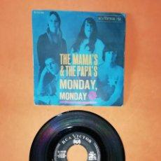Discos de vinilo: THE MAMA'S & THE PAPA'S . CALIFORNIA DREAMIN'. MONDAY, MONDAY. RCA VICTOR 1966. Lote 194374653