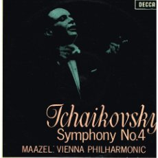 Discos de vinilo: TCHAIKOVSKY SYMPHONY Nº 4 - ORQUESTA FILARMONICA DE VIENA - DIR. LORIN MAAZEL - LP 1965. Lote 194374692