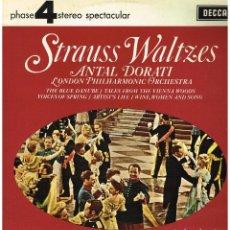 Discos de vinilo: STRAUSS WALTZES - ANTAL DORATI - LONDON PHILHARMONIC ORCHESTRA - LP 1981. Lote 194376517
