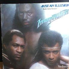 Discos de vinilo: IMAGINATION - JUST AN ILLUSION = SOLO UNA ILUSIÓN (SINGLE) (RED BUS RECORDS) 02.3320/4 (D:VG+). Lote 194377592