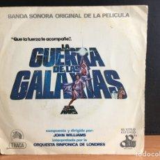 Discos de vinilo: LA GUERRA DE LAS GALAXIAS (TEMA CENTRAL) = STAR WARS (MAIN TITLE) (SINGLE) (20TH CENTURY) (D:VG+). Lote 194379891