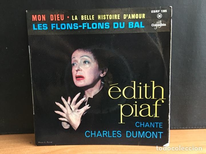 EDITH PIAF - EDITH PIAF CHANTE CHARLES DUMONT (EP) (COLUMBIA)(D:VG+) (Música - Discos de Vinilo - EPs - Canción Francesa e Italiana)