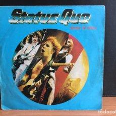 Discos de vinilo: STATUS QUO - ROCK 'N' ROLL (SINGLE) (VERTIGO) (D:VG+). Lote 194380095