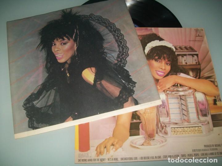 DONNA SUMMER - SHE WORKS HARD FOR THE MONEY ..LP DE 1983 - MERCURY - ESPAÑOL - CON LETRAS (Música - Discos - LP Vinilo - Funk, Soul y Black Music)
