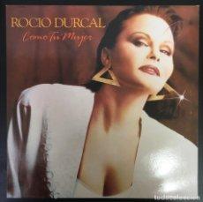 Discos de vinilo: ROCIO DURCAL – COMO TU MUJER BLP, ALBUM 1988 VINILO Y CARPETA EXCELENTES, COMO NUEVOS.. Lote 194384118