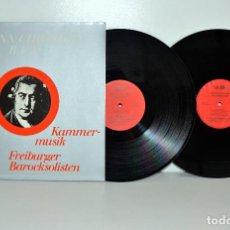Discos de vinilo: JOHANN CHRISTIAN BACH - KAMMER-MUSIC FREIBURGER - 2LP AUDITE ALEMANIA 1978 VG++/VG+. Lote 194385147