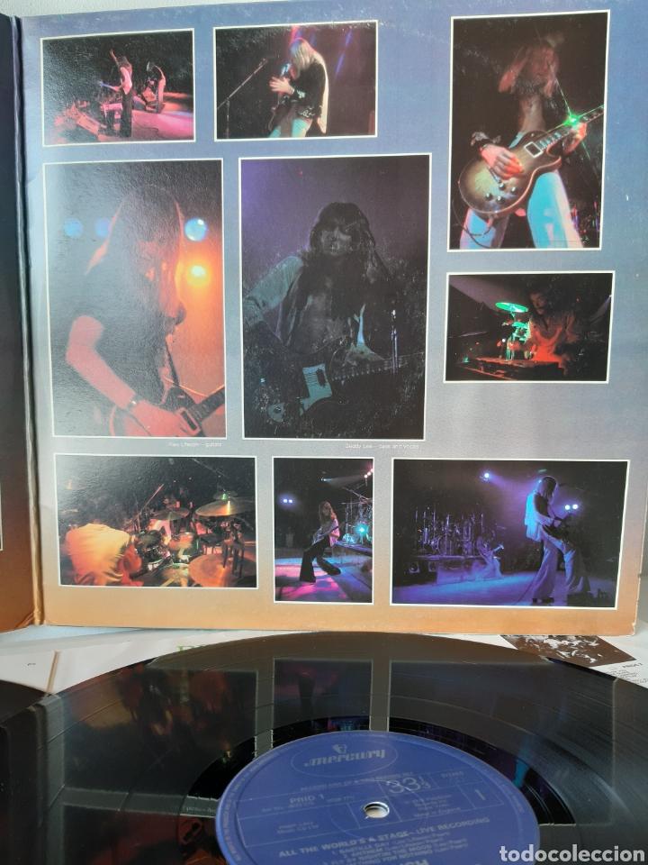 Discos de vinilo: RUSH. ALL THE WORLDS A STATE. LIVE RECORDING. MERCURY. UK. REDICCION 1986? - Foto 3 - 194387275