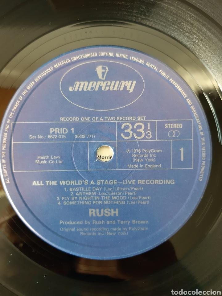 Discos de vinilo: RUSH. ALL THE WORLDS A STATE. LIVE RECORDING. MERCURY. UK. REDICCION 1986? - Foto 5 - 194387275