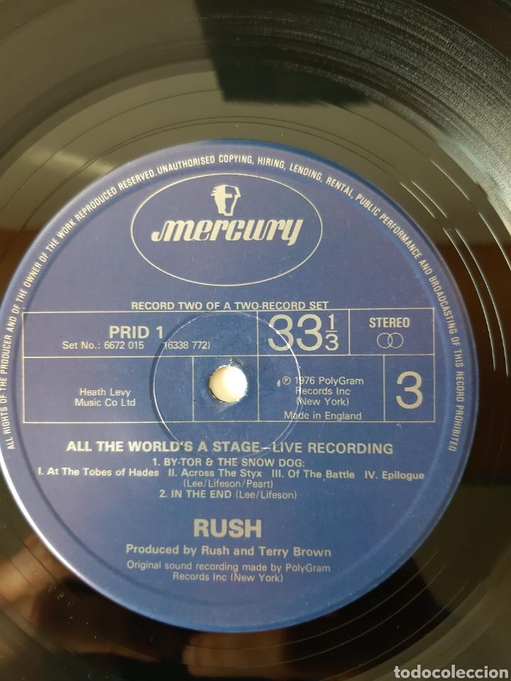 Discos de vinilo: RUSH. ALL THE WORLDS A STATE. LIVE RECORDING. MERCURY. UK. REDICCION 1986? - Foto 6 - 194387275