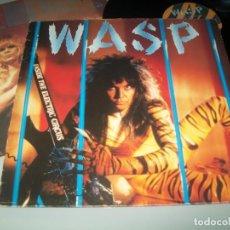 Discos de vinilo: WASP - INSIDE THE ELECTRIC CIRCUS ...LP DE 1986 - CON LETRAS - ORIGINAL ESPAÑOL. Lote 194389408