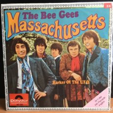 Discos de vinilo: BEE GEES - MASSACHUSETTS (SINGLE) (POLYDOR) (D:NM). Lote 194389776