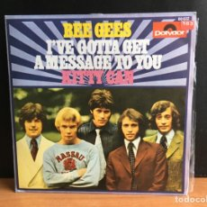 Discos de vinilo: BEE GEES - I'VE GOTTA GET A MESSAGE TO YOU (SINGLE) (POLYDOR) 60032 (D:NM). Lote 194389821