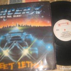 Discos de vinilo: RACER X - STREET LETHAL - PAUL GILBERT - (ROADRUNNER 1986 ) OG HOLANDA. Lote 194391875