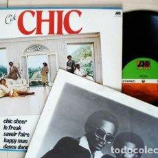 Discos de vinilo: CHIC / C'EST CHIC 78 LE FREAK 2º LP I WANT YOUR LOVE, KILLER FUNKY, ORG EDIT USA + INSERT, IMPECABLE. Lote 246280140