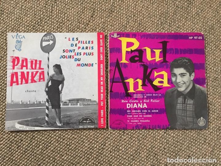 PAUL ANKA LOTE 2 EP (Música - Discos de Vinilo - EPs - Pop - Rock Extranjero de los 70)
