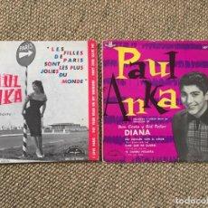 Discos de vinilo: PAUL ANKA LOTE 2 EP. Lote 194392290