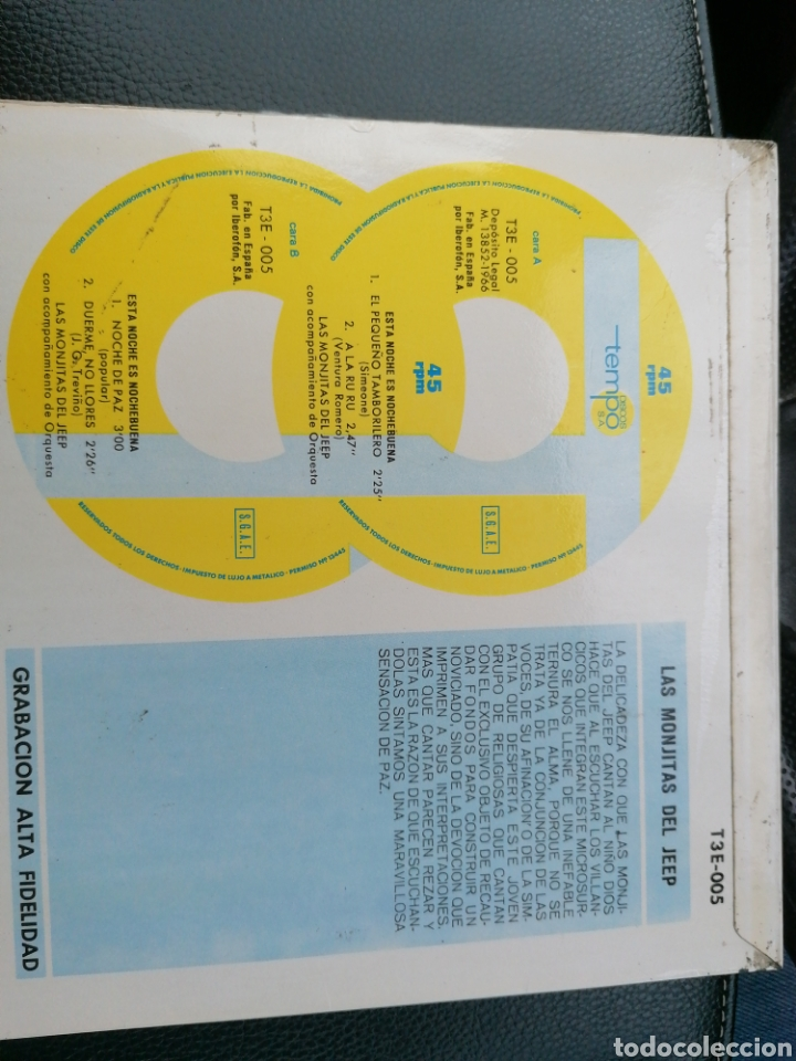 Discos de vinilo: 2 singles las monjitas del Jeep - Foto 3 - 194392555