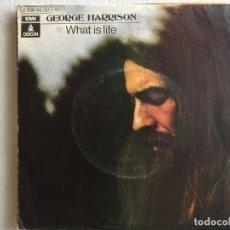 Discos de vinilo: GEORGE HARRISON WHAT IS LIFE. Lote 194392817