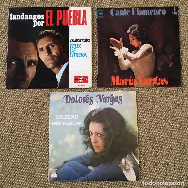 LOTE FLAMENCO MARIA VARGAS DOLORES VARGAS EL PUEBLA (Música - Discos - Singles Vinilo - Flamenco, Canción española y Cuplé)
