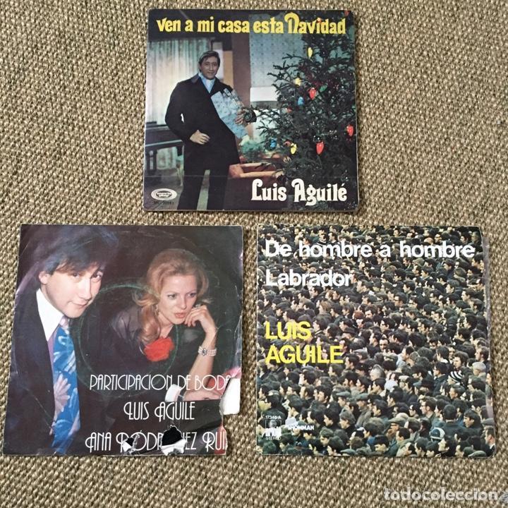 LOTE 3 SINGLES LUIS AGUILE (Música - Discos - Singles Vinilo - Solistas Españoles de los 50 y 60)