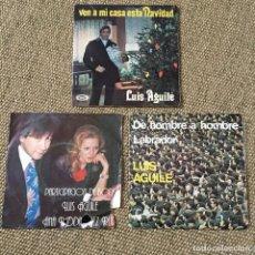 Discos de vinilo: LOTE 3 SINGLES LUIS AGUILE. Lote 194393357