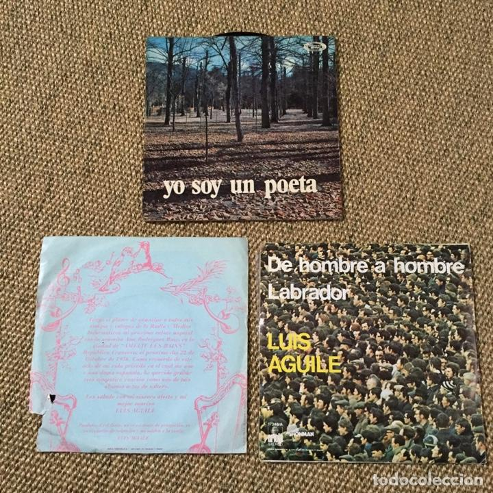 Discos de vinilo: LOTE 3 SINGLES LUIS AGUILE - Foto 2 - 194393357