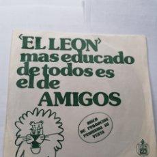 Discos de vinilo: EL LEÓN SINGLE. Lote 194394328