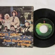Discos de vinilo: PAUL MCCARTNEY & WINGS - JUNIOR'S FARM - SINGLE - 1974 - SPAIN - VG+/VG. Lote 194394602