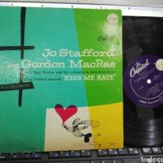 Discos de vinilo: JO STAFFORD AND GORDON MACRAE LP 10'' KISS ME KATE U.S.A. 1950 RAREZA. Lote 194402632