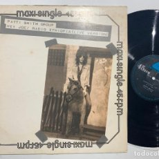 Discos de vinilo: MAXI SINGLE 12'' PATTI SMITH GROUP ‎– HEY JOE / RADIO ETHIOPIA (LIVE VERSION) EDICION ESPAÑOLA 1978. Lote 194404140