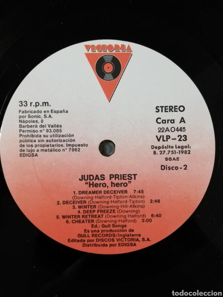 Discos de vinilo: Doble disco vinilo Judas Priest-Hero, hero. - Foto 3 - 194408366
