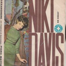 Discos de vinilo: 45 GIRI NIKI DAVIS POZZANGHERE TONI RENIS BLUEBEL SANREMO 1961. Lote 194457883