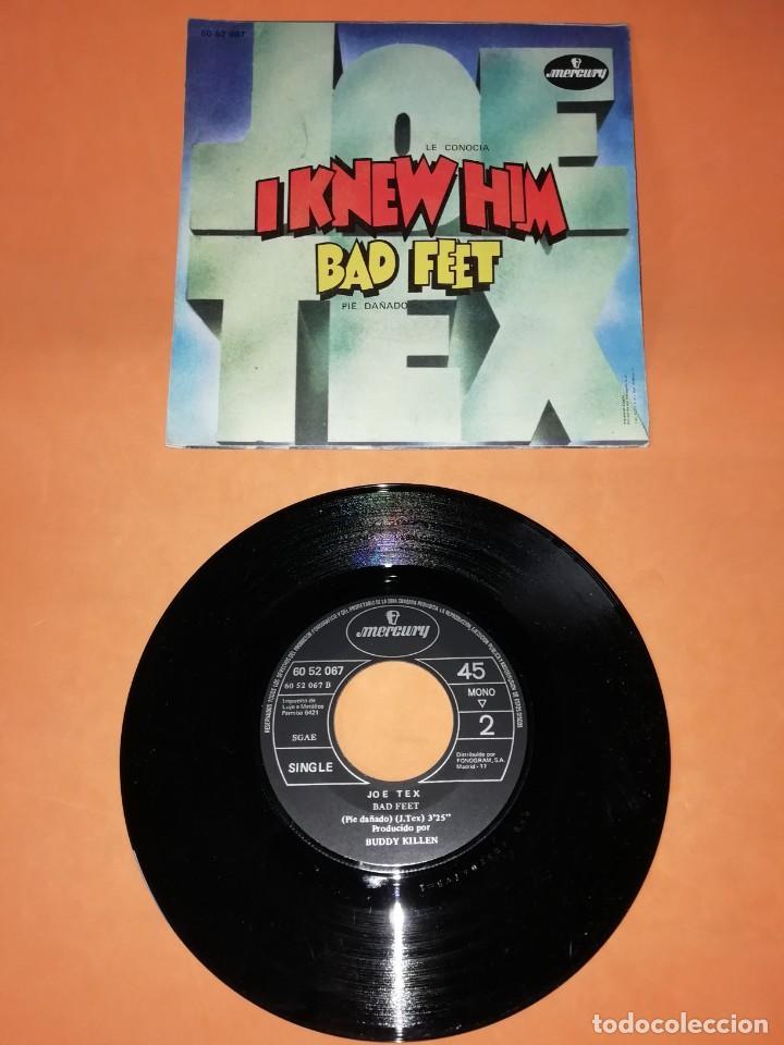 Discos de vinilo: JOE TEX. I KNEW HIM. BAD FEET. MERCURY RECORDS. 1971 - Foto 2 - 194488711
