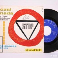 Discos de vinilo: DISCO EP DE VINILO - LOS STOP / CASI NADA, NO PIENSES EN MI - BELTER - AÑO 1967. Lote 194489556